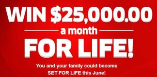 pch 25000 a month for life